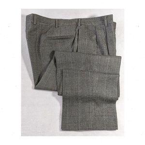JOS A BANK Gray Plaid Trouser Pants 42x35